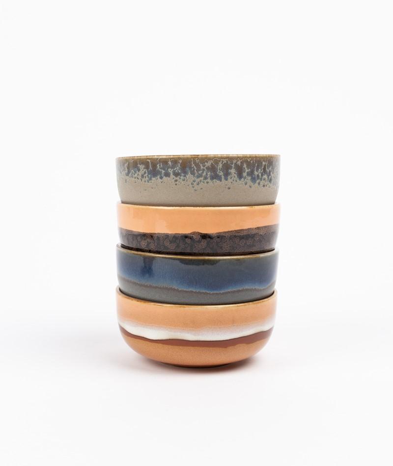 HKLIVING Ceramic Set 70`s Tapas Bowls