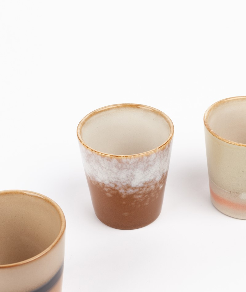 HKLIVING Ceramic 70`s Mug gemustert
