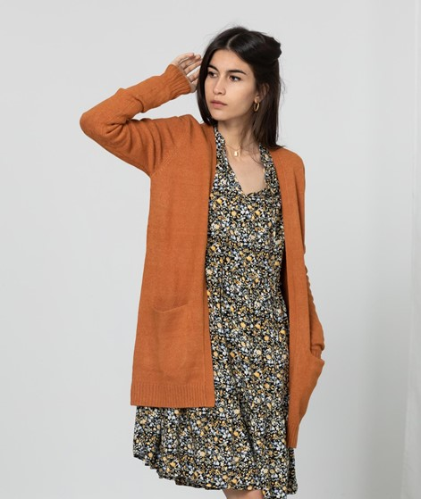 VILA VIRil Open Strickcardigan orange