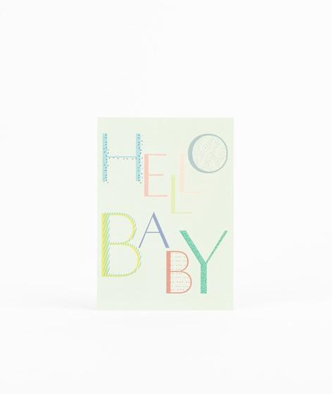 KAUF DICH GLÜCKLICH Postkarte Hello Baby