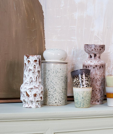 HKLIVING 70`s Storage Jar gemustert
