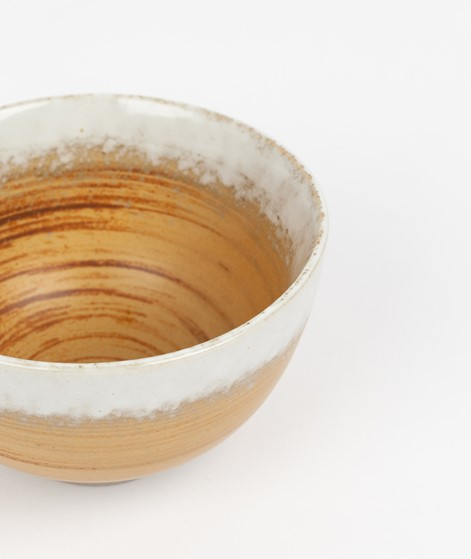 HKLIVING Ceramic Bowl braun/weiß
