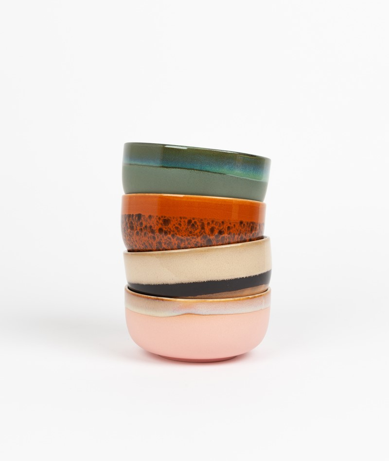 HKLIVING Ceramic Set 70`s Dessert Bowls
