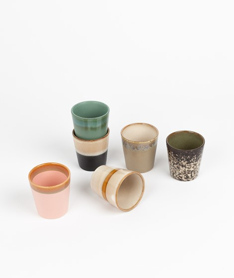 HKLIVING Ceramic Set 70`s Mugs multi