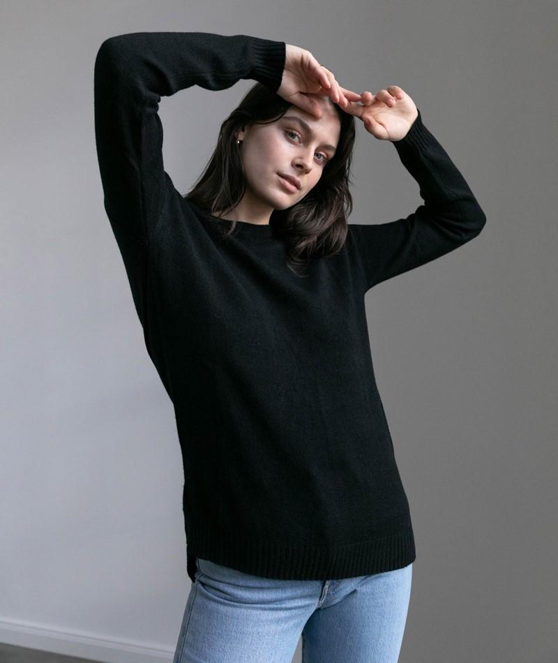 VILA VIRil High Low Pullover schwarz