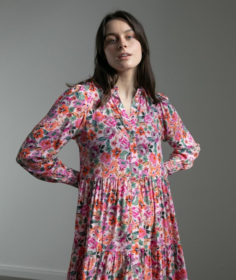 YAS YASAlira Long Kleid gemustert