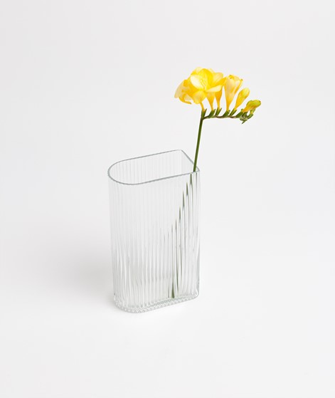 HKLIVING Clear Ribbed Vase