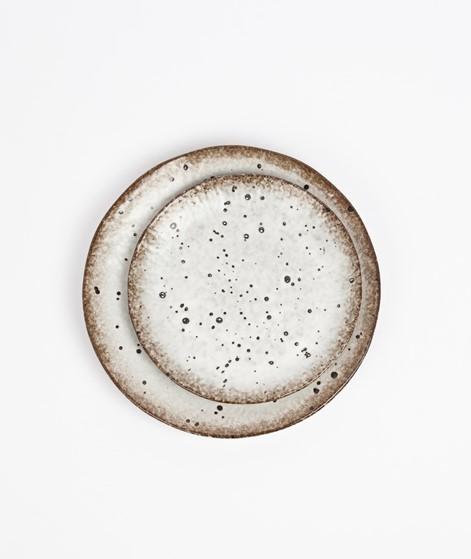 MADAM STOLTZ Stonware Teller gemustert