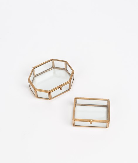 MADAM STOLTZ Octagonal Glas Box gold