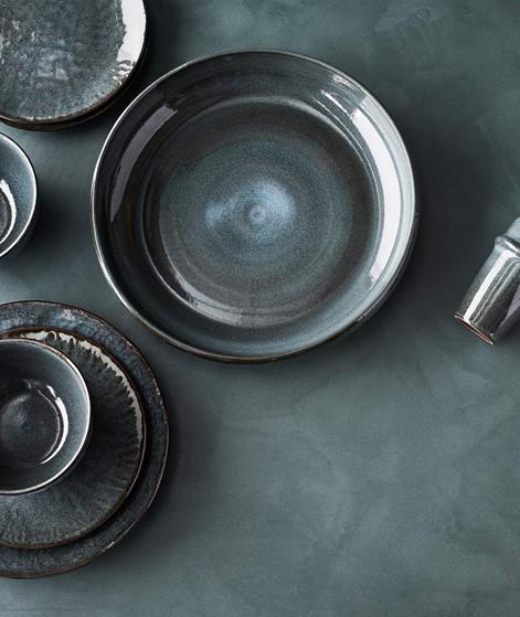 MADAM STOLTZ Stoneware Bowl blau