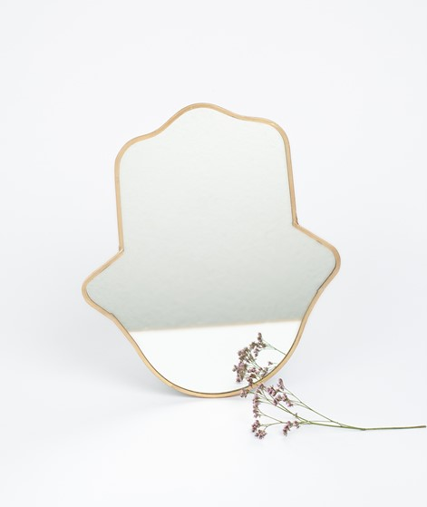 MADAM STOLTZ Hanging Spiegel gold