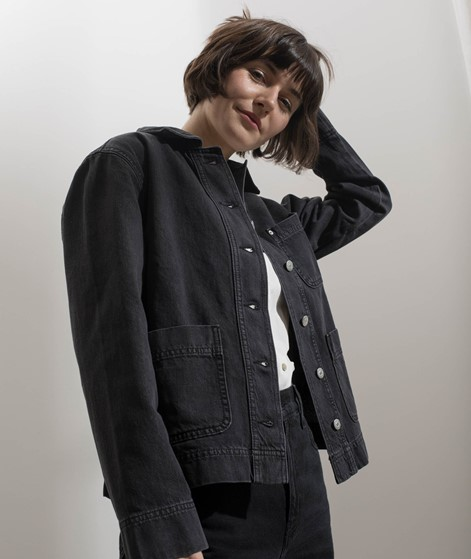 GLOBAL FUNK Lindy Jacke black denim