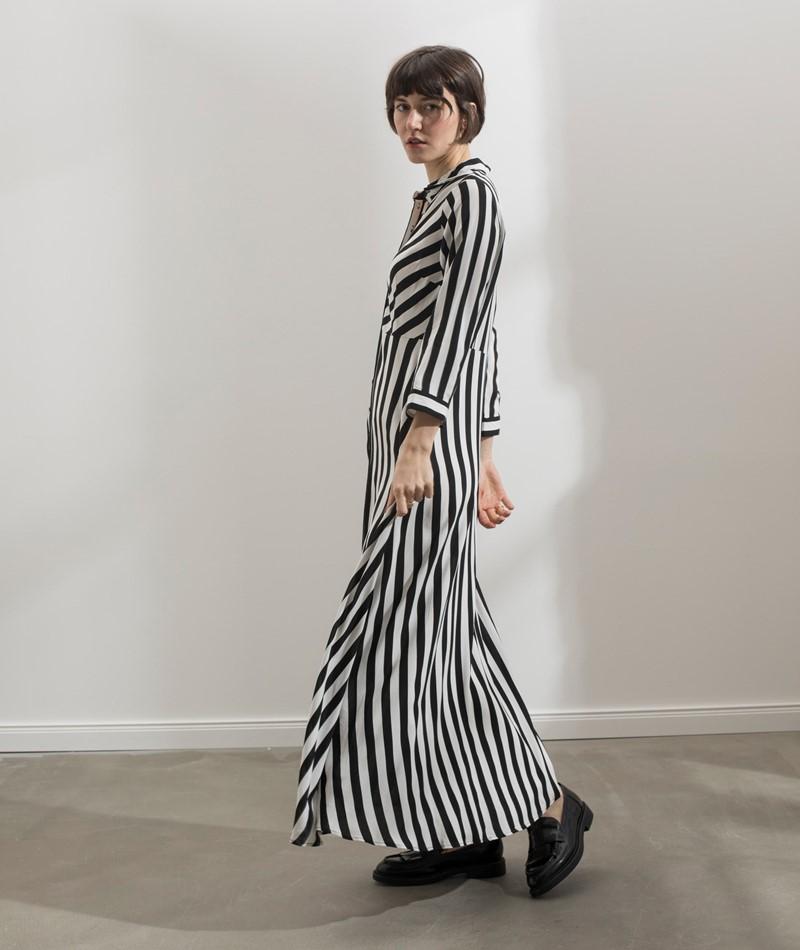 YAS YASSavanna Kleid gestreift