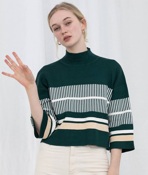 NATIVE YOUTH Noontide Knit Pullover gree