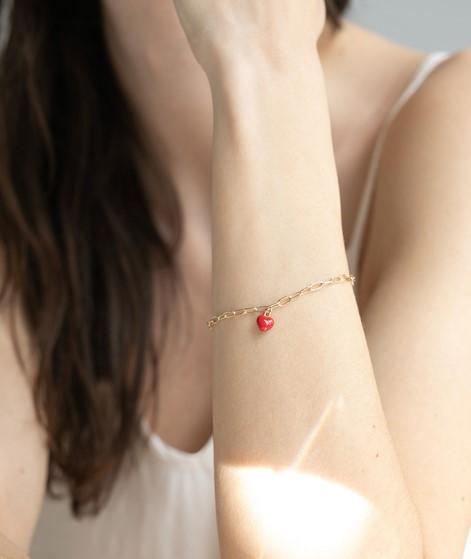 KAUF DICH GLÜCKLICH Armband Emaille-Herz