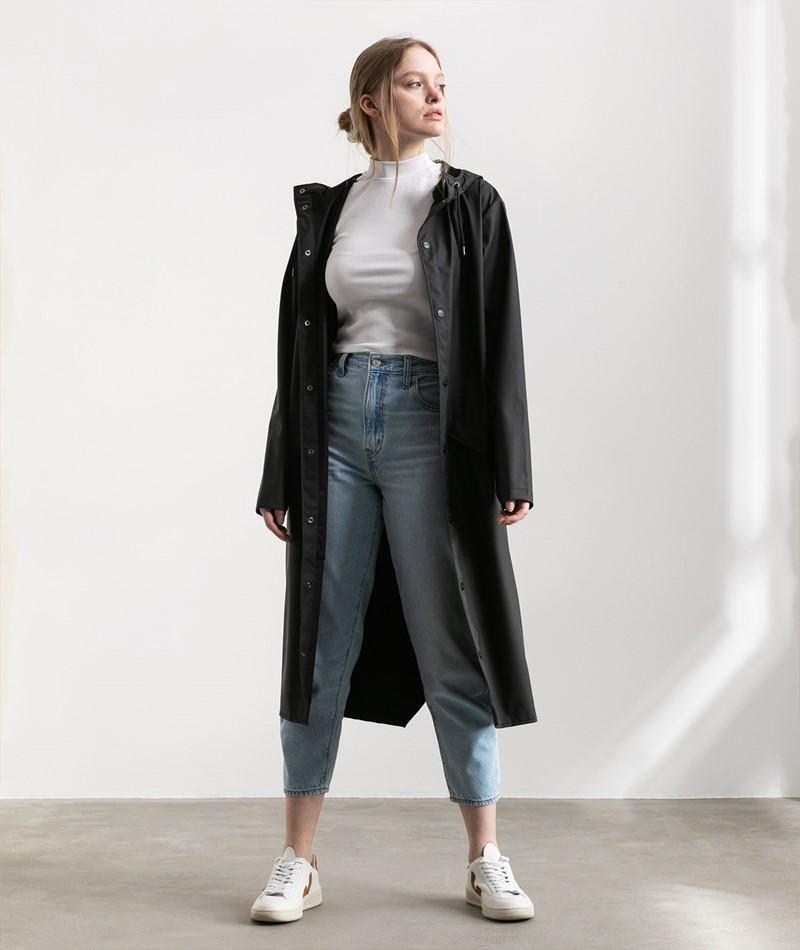 RAINS Longer Jacket schwarz