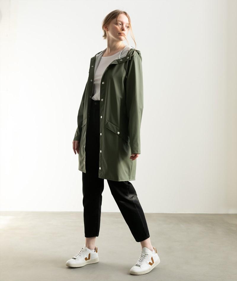 RAINS Long Jacket grün