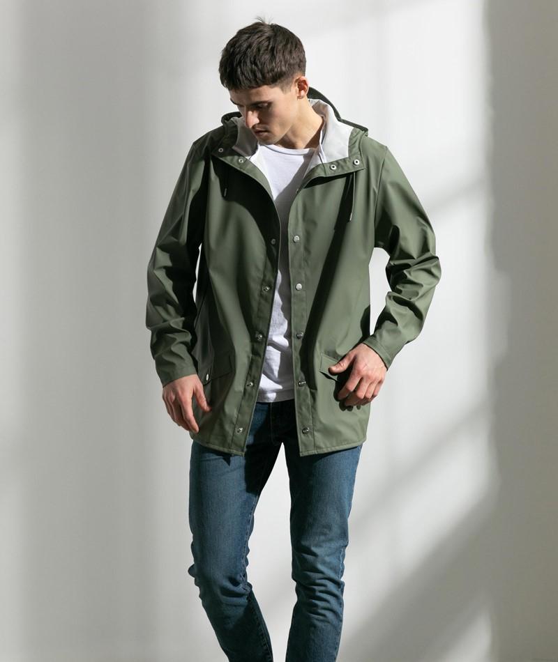 RAINS Jacke grün