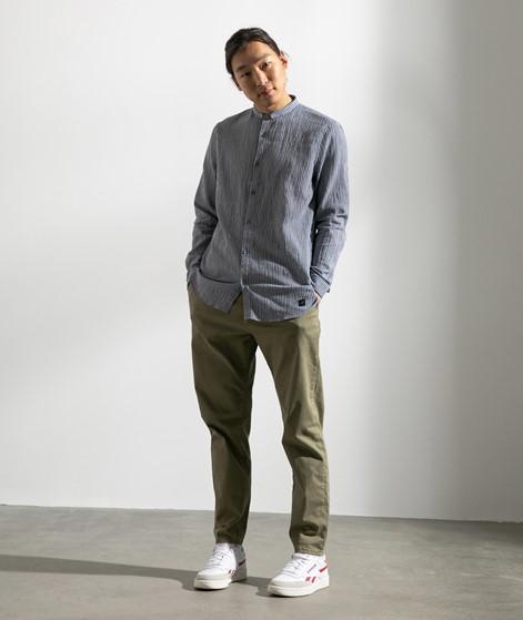 NOWADAYS Crinkle Hemd dunkelblau