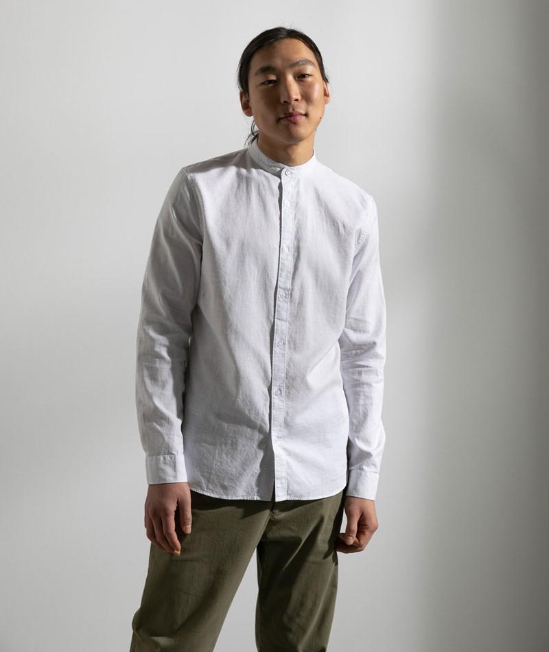 NOWADAYS Oxford Melange Hemd weiß