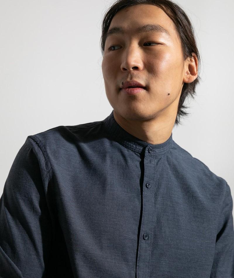 NOWADAYS Oxford Melange Hemd dunkelblau