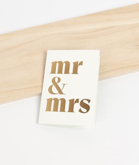 KAUF DICH GLÜCKLICH Postkarte Mr & Mrs