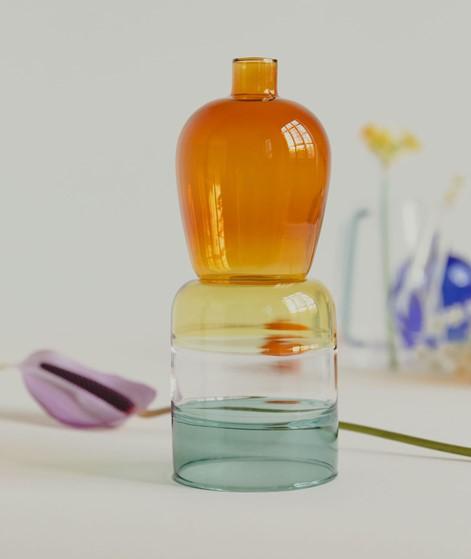 HÜBSCH Vase bernstein
