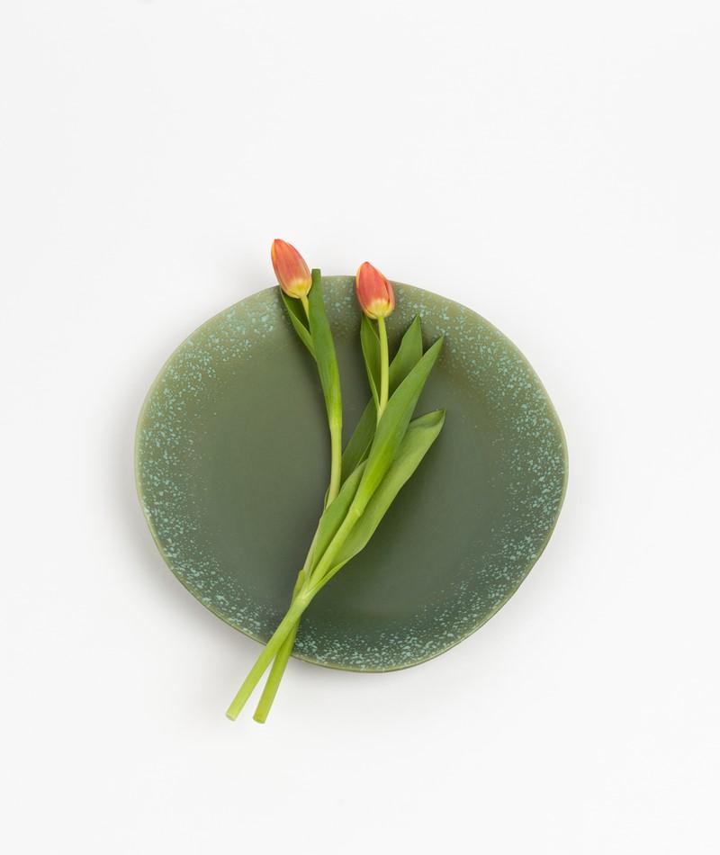 HKLIVING 70`s Dinner Plate grün