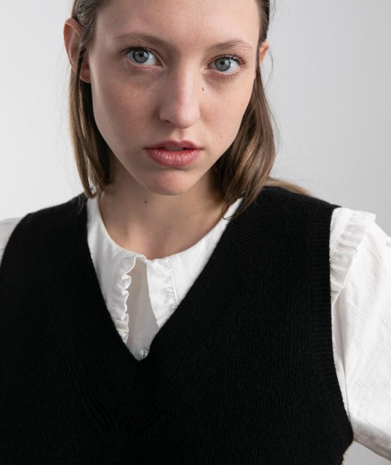 VILA VIRil V-Neck Pullunder schwarz