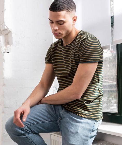 KAUF DICH GLÜCKLICH T-Shirt green stripe