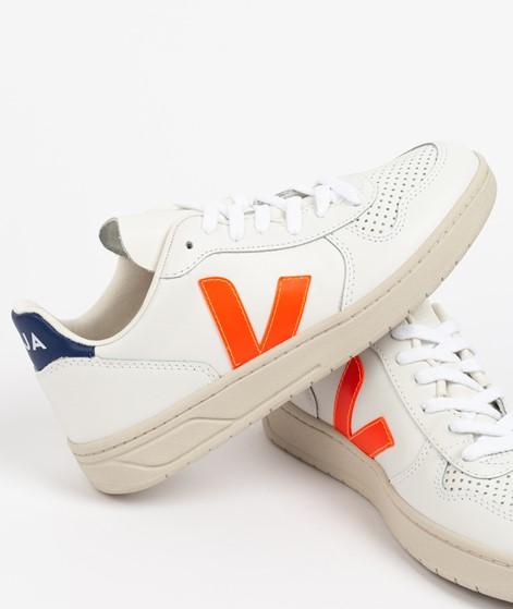 VEJA V-10 Sneaker weiß orange