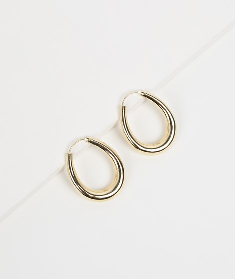 FLAWED Oval Hoops gold