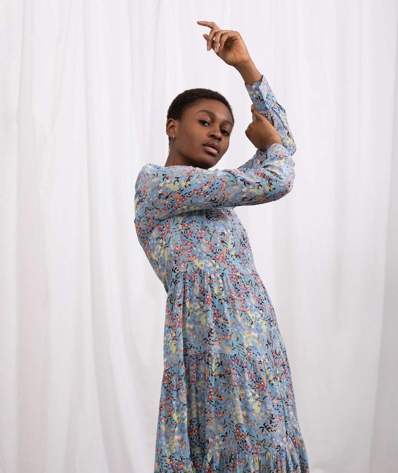 YAS YASSantos Long Kleid print