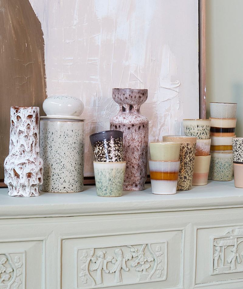 HKLIVING 70`s Storage Jar multi