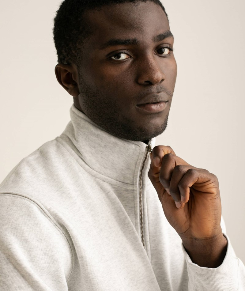 CARHARTT WIP Chase Neck Zip Sweater grau