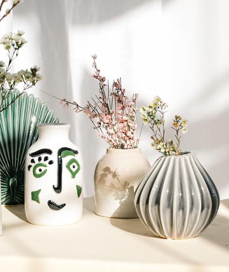 BROSTE Wide Vase grau