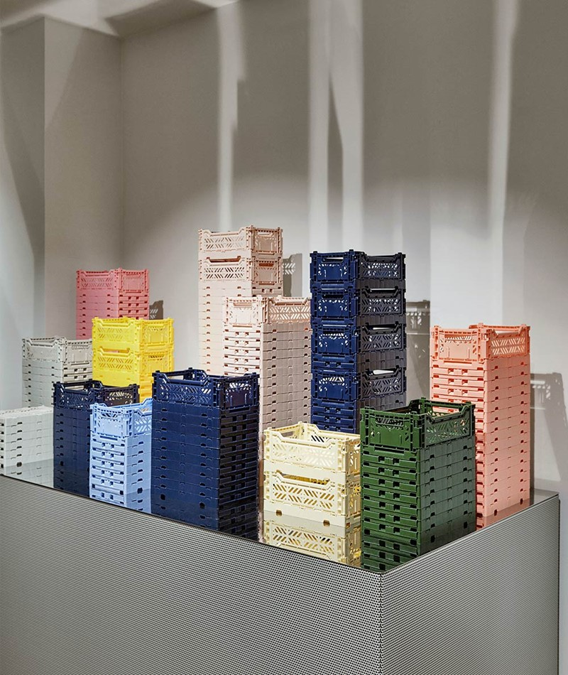 HAY Colour Crate/ M Korb navy