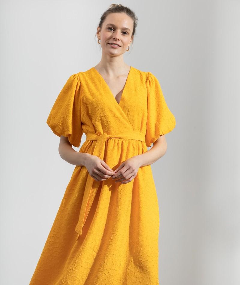 SELECTED FEMME SLFLissy Midi Kleid gelb