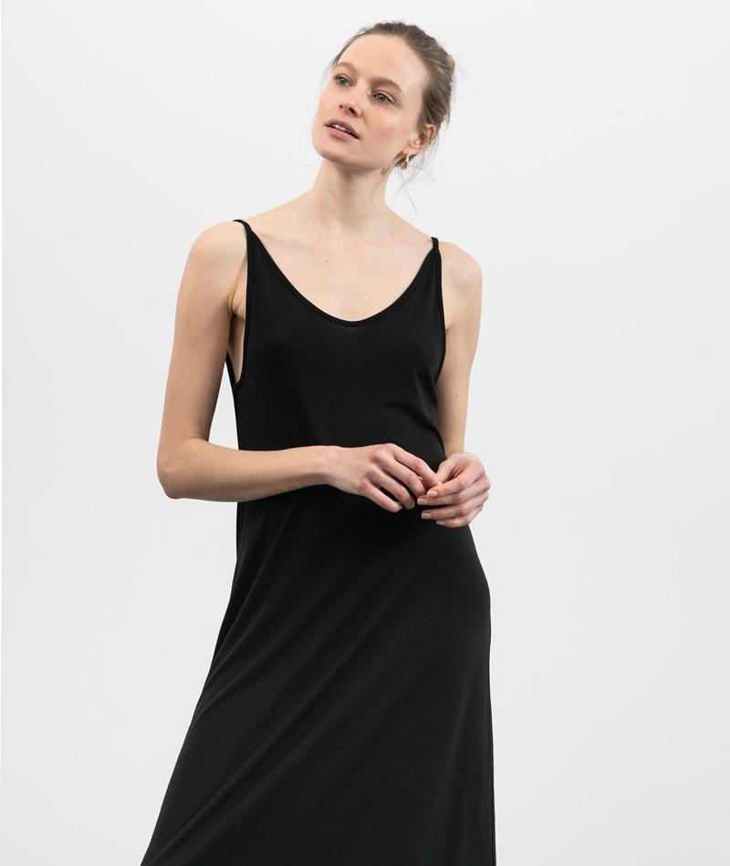 JAN N JUNE Triangle Midi Kleid schwarz