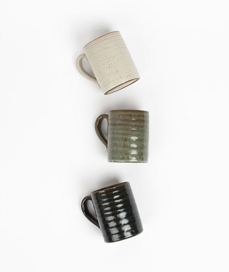 MADAM STOLTZ Stoneware Tasse grün