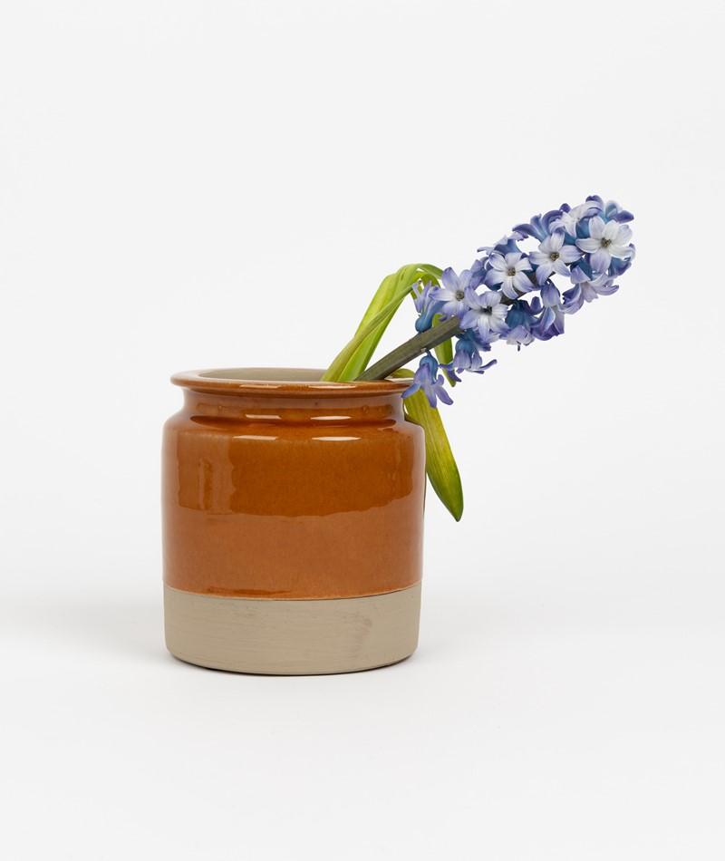 MADAM STOLTZ Terracotta Vase braun