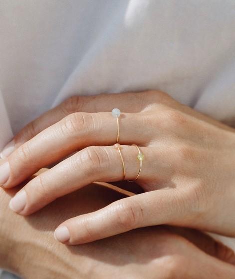 JUKSEREI Birthstone Ring August gold