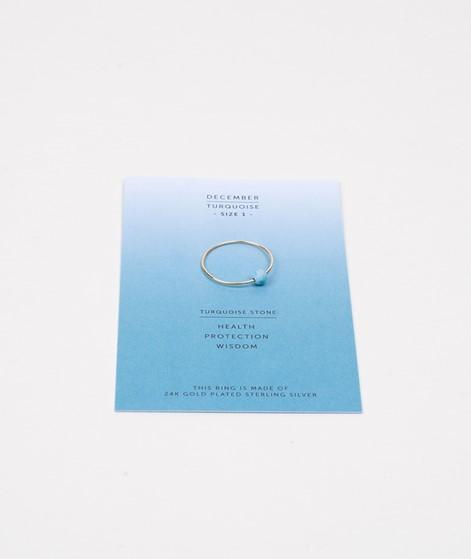 JUKSEREI Birthstone Ring Dezember gold