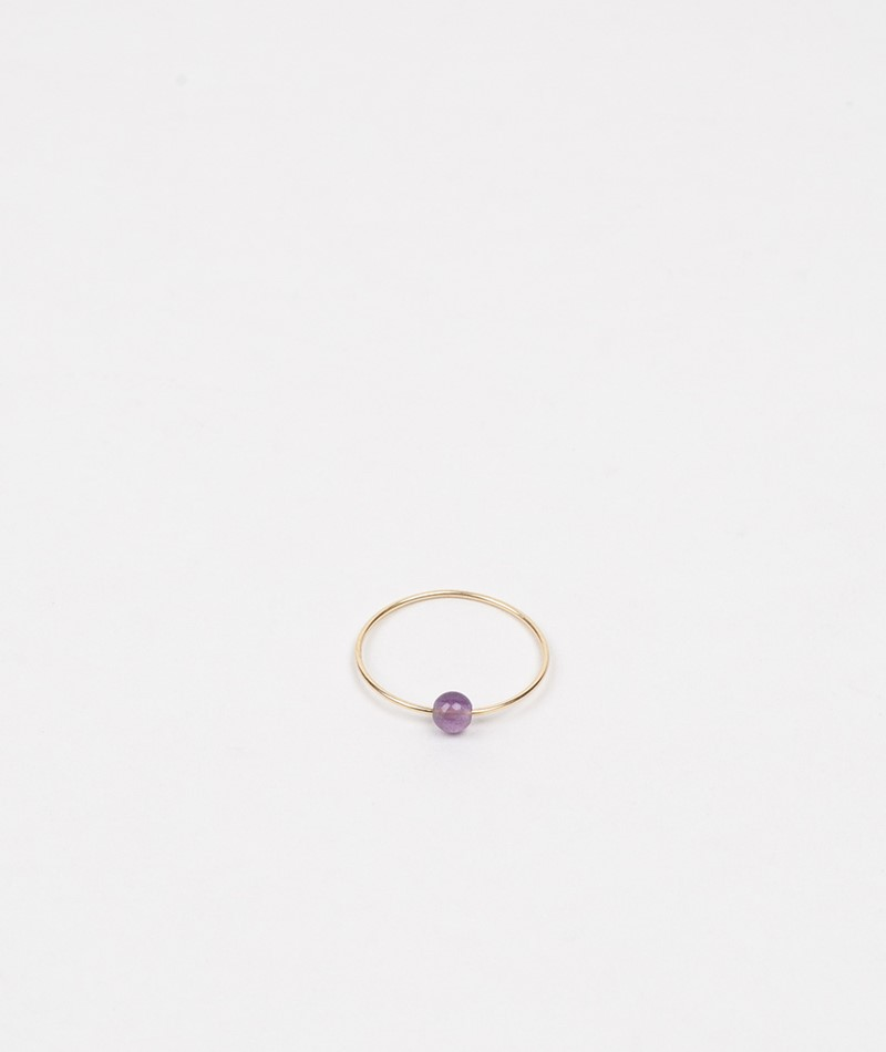 JUKSEREI Birthstone Ring Februar gold