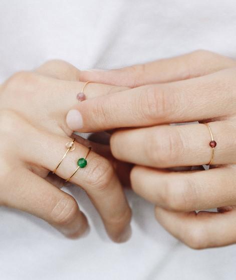 JUKSEREI Birthstone Ring Mai gold