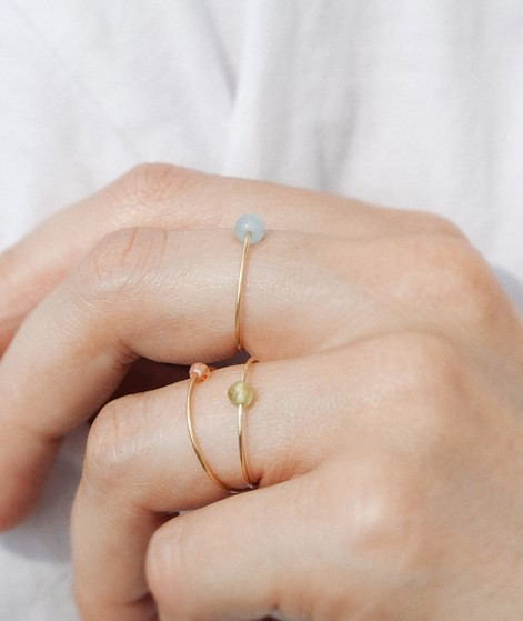 JUKSEREI Birthstone Ring März gold