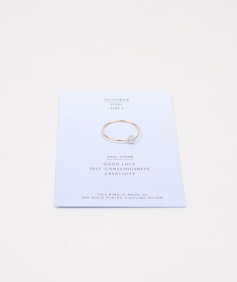 JUKSEREI Birthstone Ring Oktober gold
