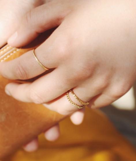 JUKSEREI Rille Ring gold