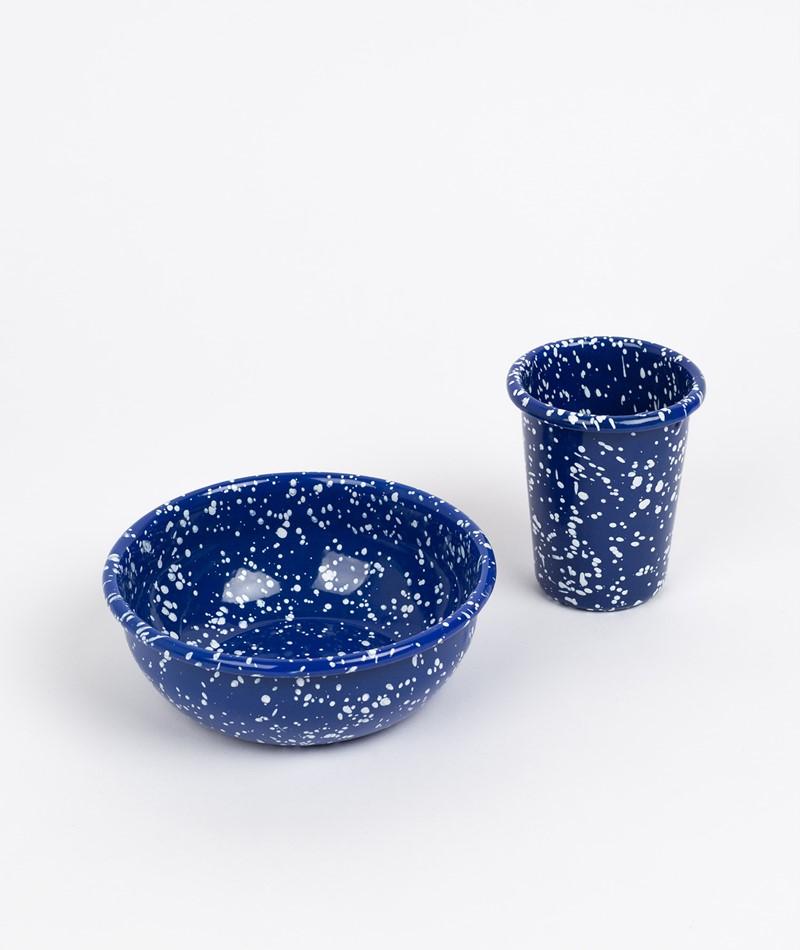 HAY Enamel Tasse blau