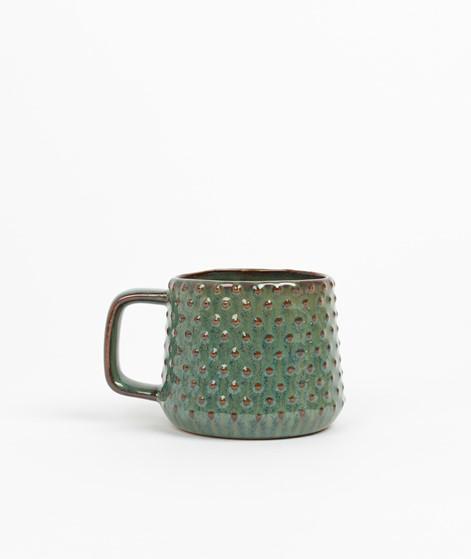 MADAM STOLTZ Stoneware Dots Tasse grün